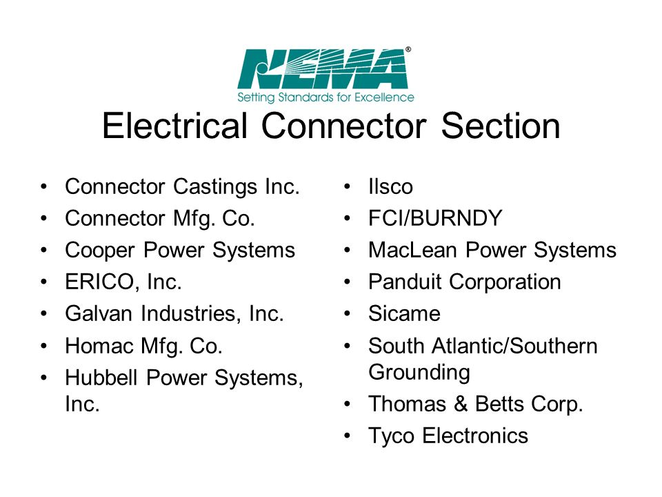Electrical Connector Section
