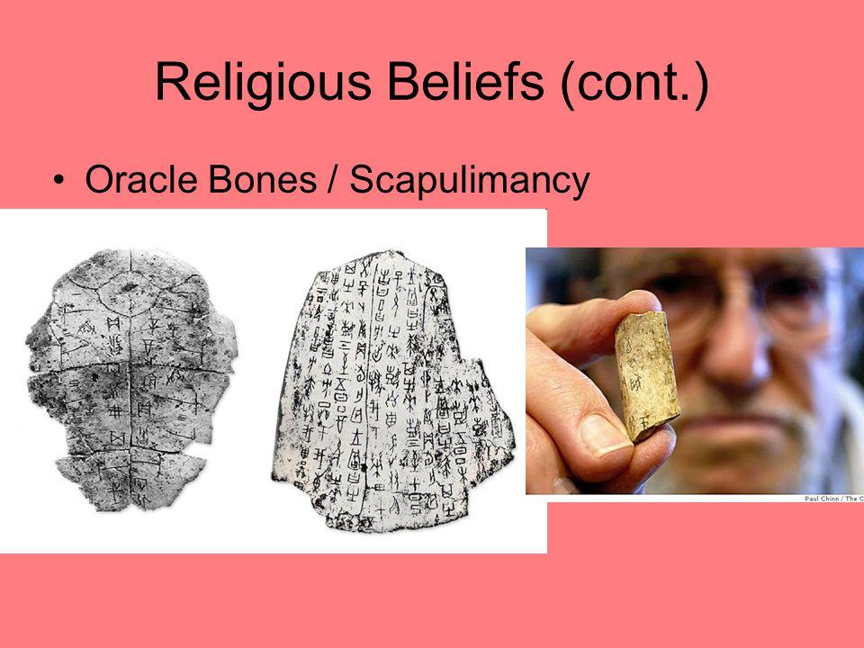 Religious Beliefs (cont.)