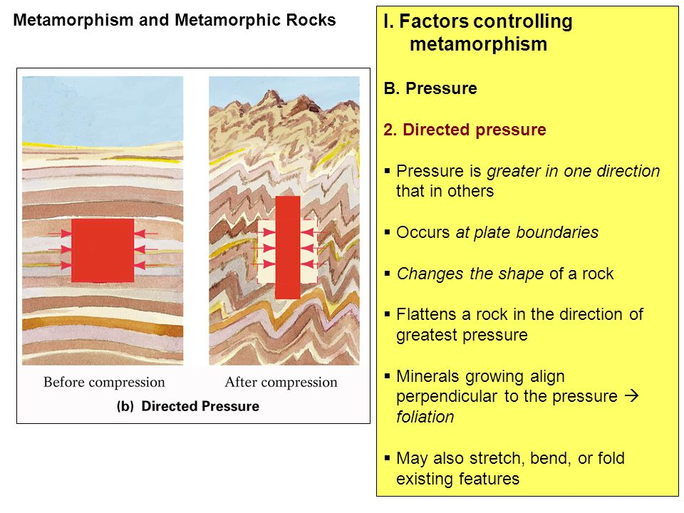 I. Factors controlling metamorphism