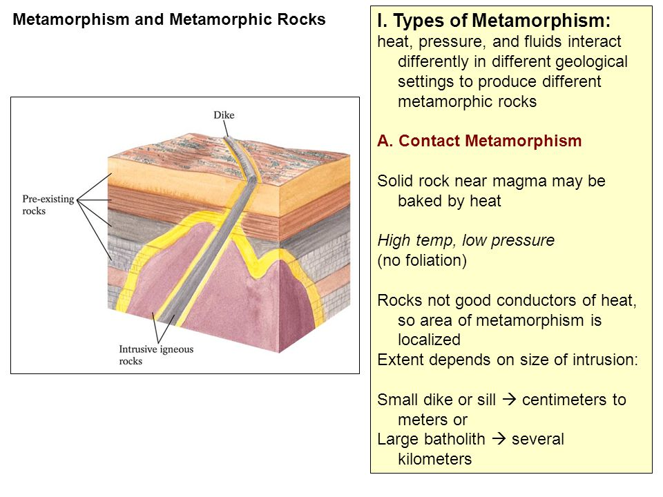 I. Types of Metamorphism: