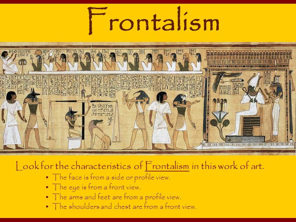the main characteristics of ancient egypt art Artistic style of ancient egypt artistic style of ancient egypt the art of ancient egypt was both uniquely stylized and symbolic  who is the main figure in the.