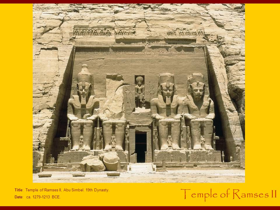 Title: Temple of Ramses II, Abu Simbel. 19th Dynasty.