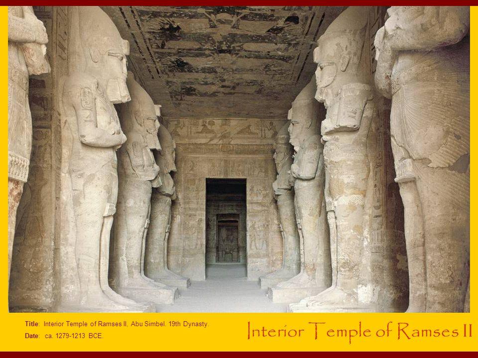 Interior Temple of Ramses II