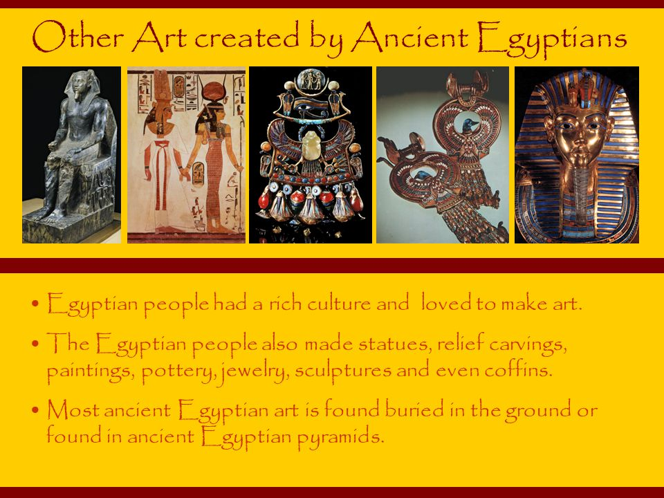 Other Art created by Ancient Egyptians
