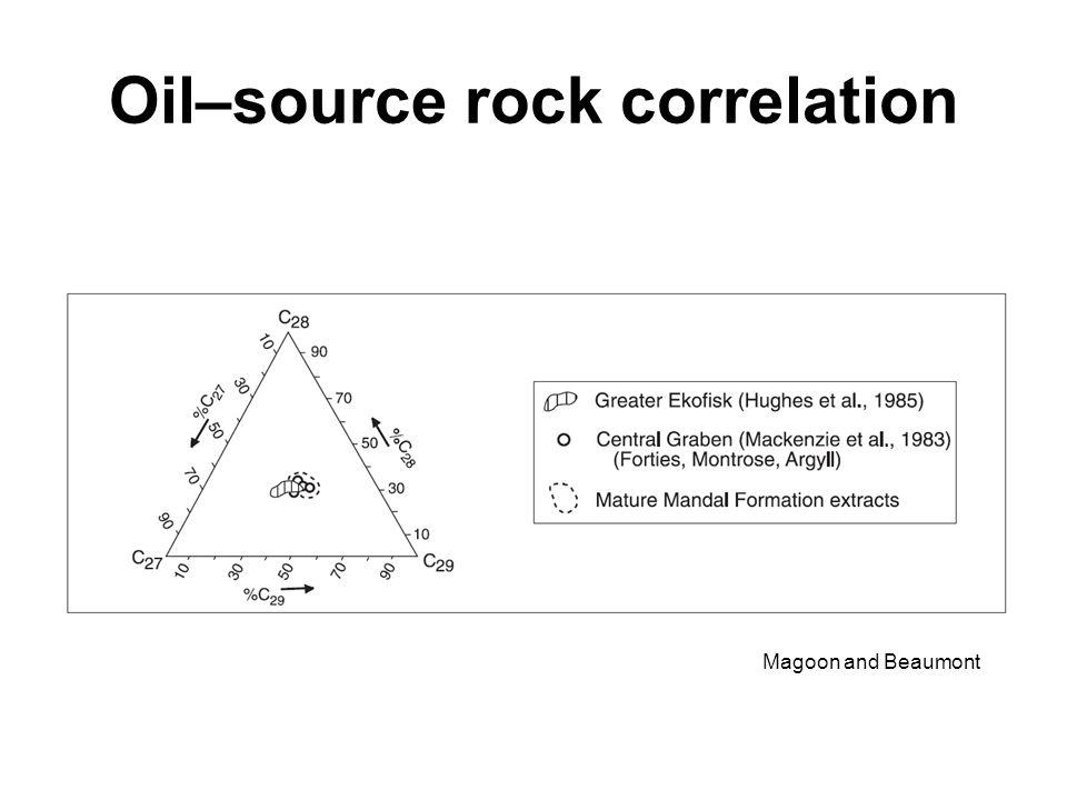 Oil–source rock correlation