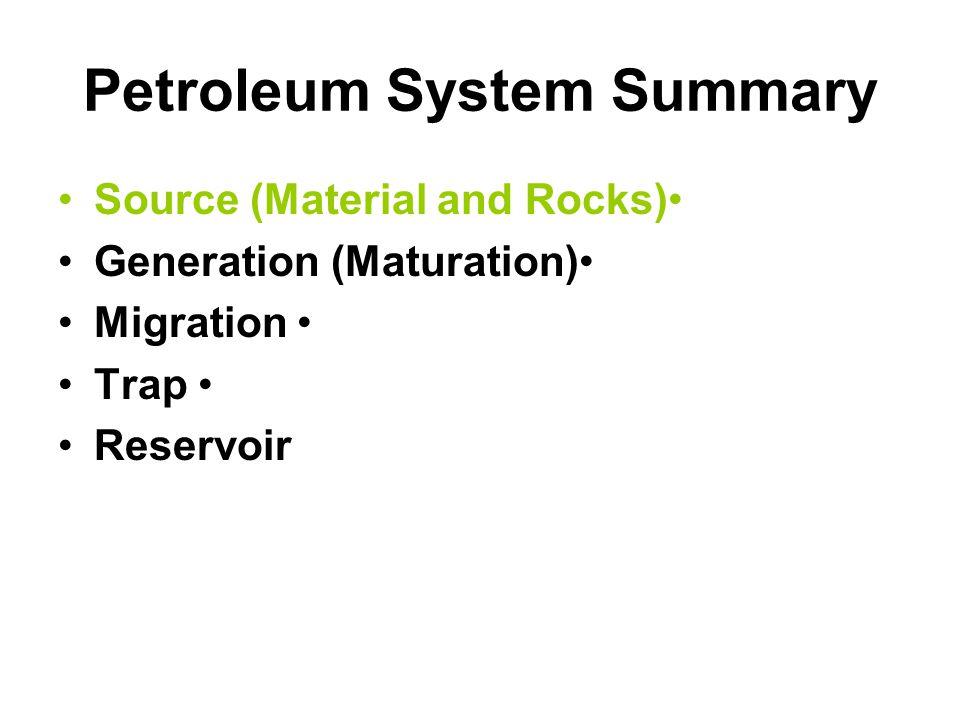 Petroleum System Summary