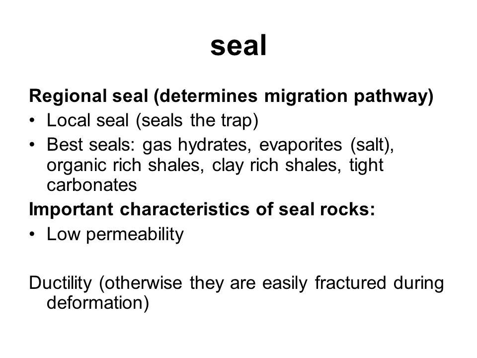 seal Regional seal (determines migration pathway)
