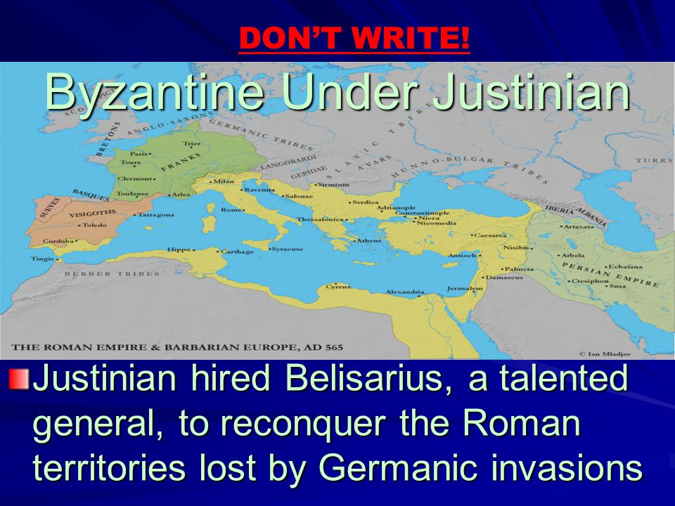 Byzantine Under Justinian