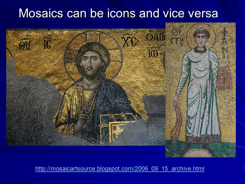 Mosaics can be icons and vice versa