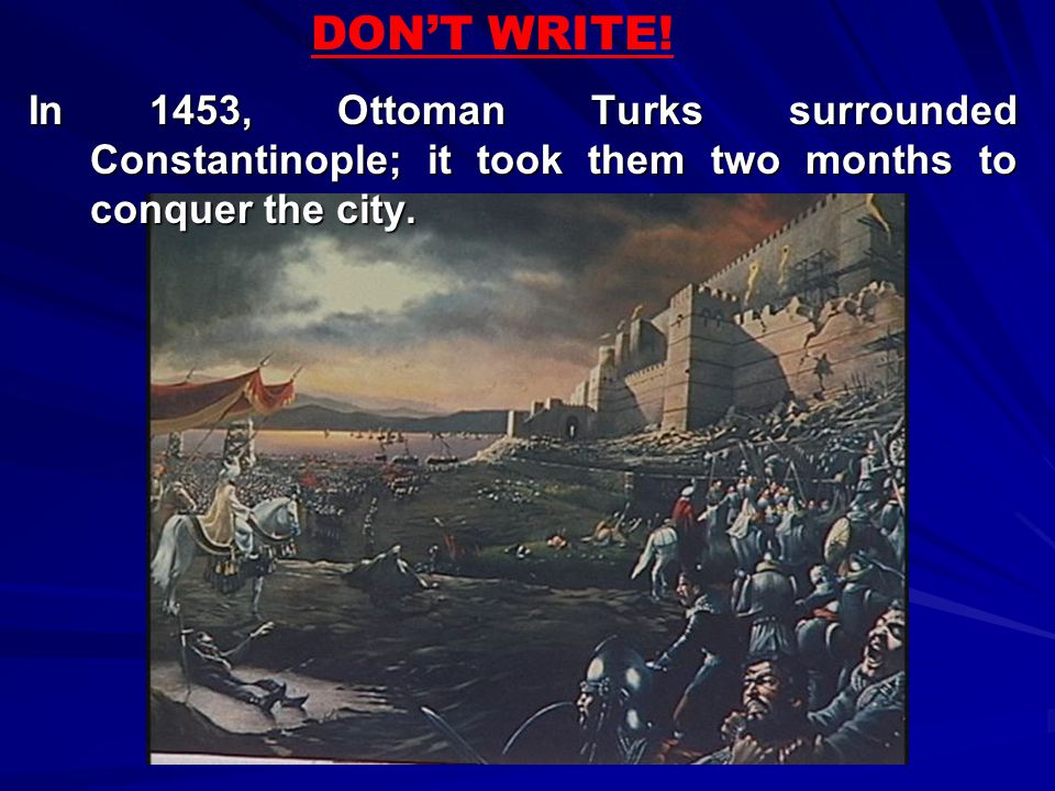 DON'T WRITE.