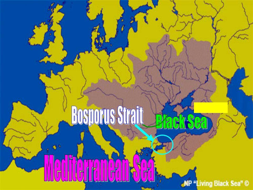 Bosporus Strait Black Sea Mediterranean Sea