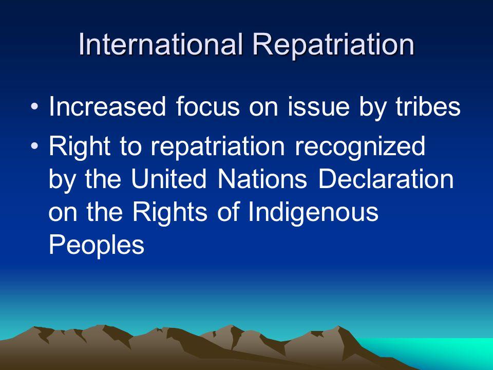 International Repatriation