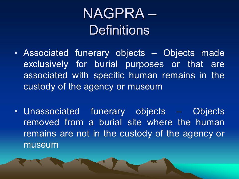 NAGPRA – Definitions