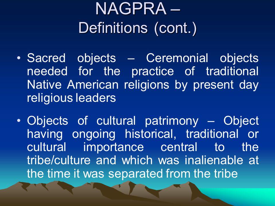NAGPRA – Definitions (cont.)