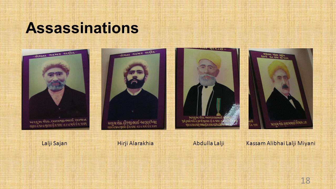Assassinations Lalji Sajan Hirji Alarakhia Abdulla Lalji Kassam Alibhai Lalji Miyani