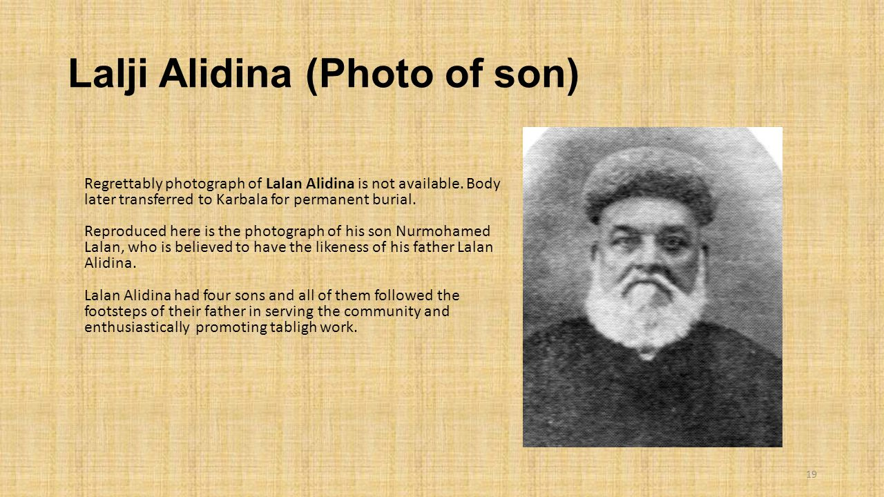 Lalji Alidina (Photo of son)