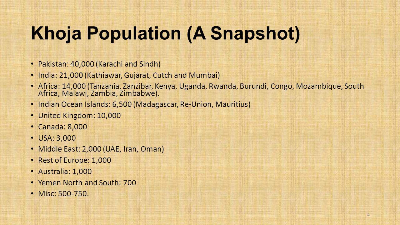 Khoja Population (A Snapshot)