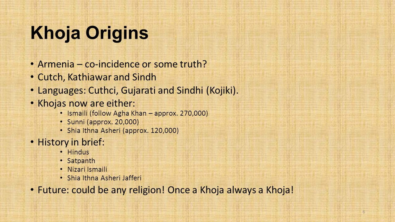 Khoja Origins Armenia – co-incidence or some truth