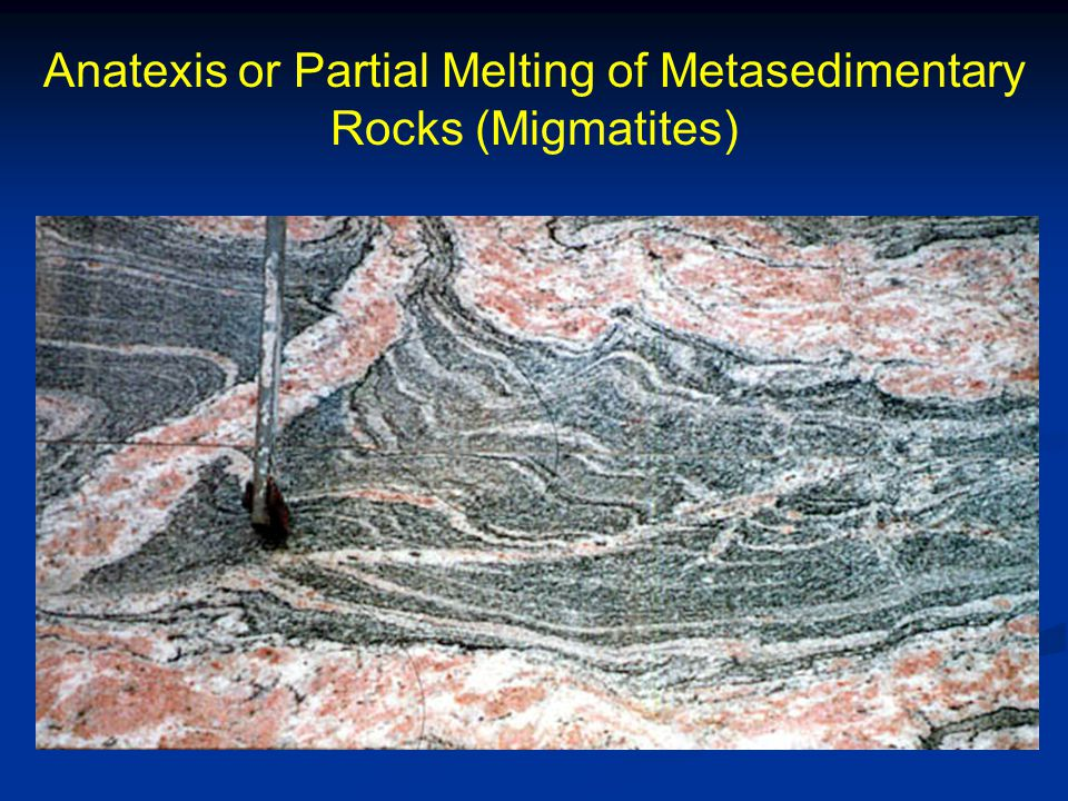 Anatexis or Partial Melting of Metasedimentary Rocks (Migmatites)