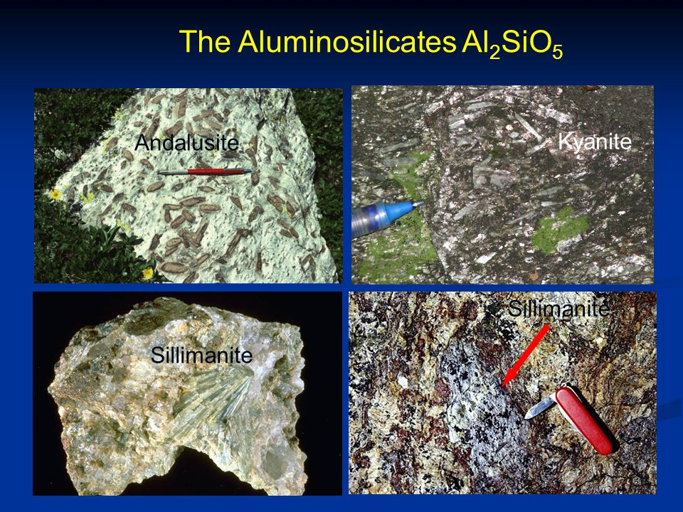 The Aluminosilicates Al2SiO5