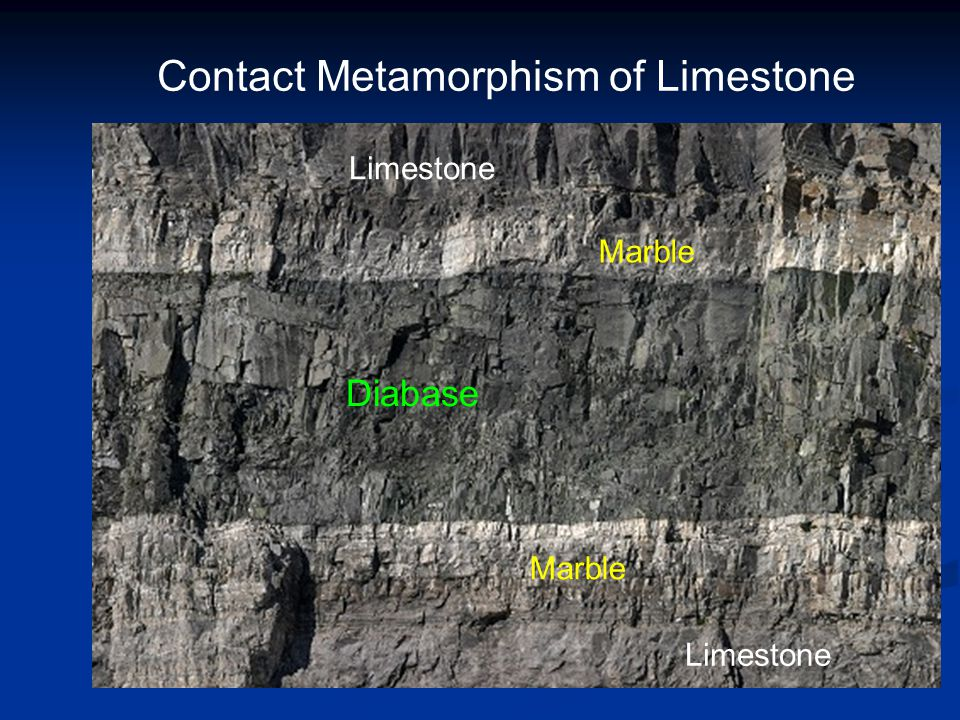 Contact Metamorphism of Limestone