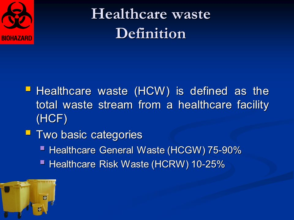 Healthcare waste Definition