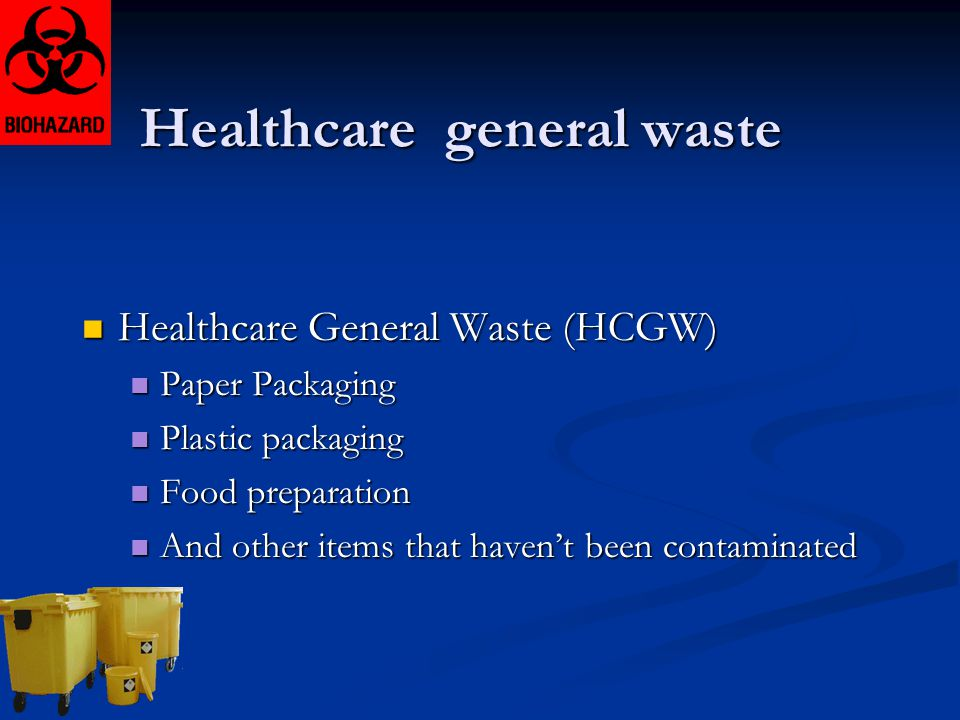 Healthcare general waste