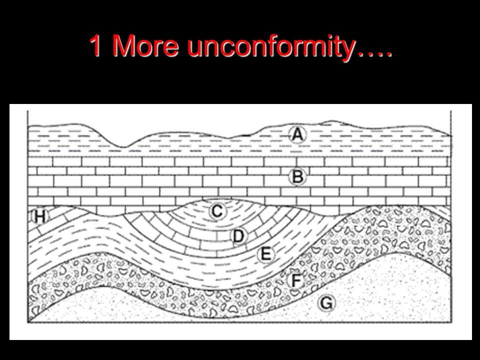 1 More unconformity….
