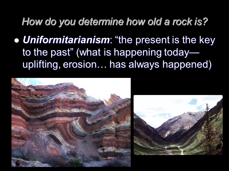 How do you determine how old a rock is