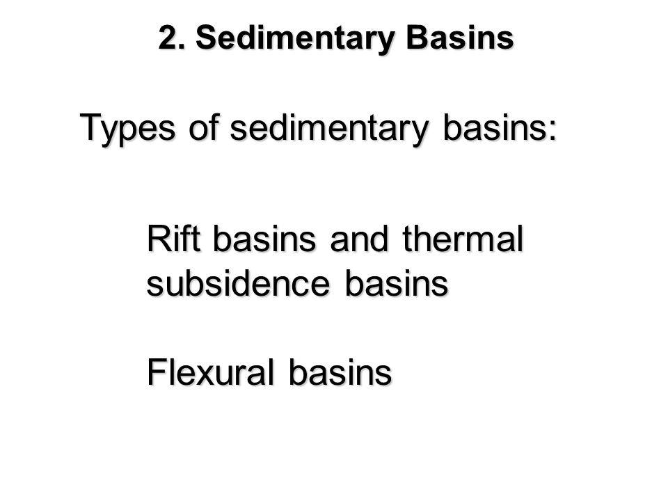 Types of sedimentary basins: