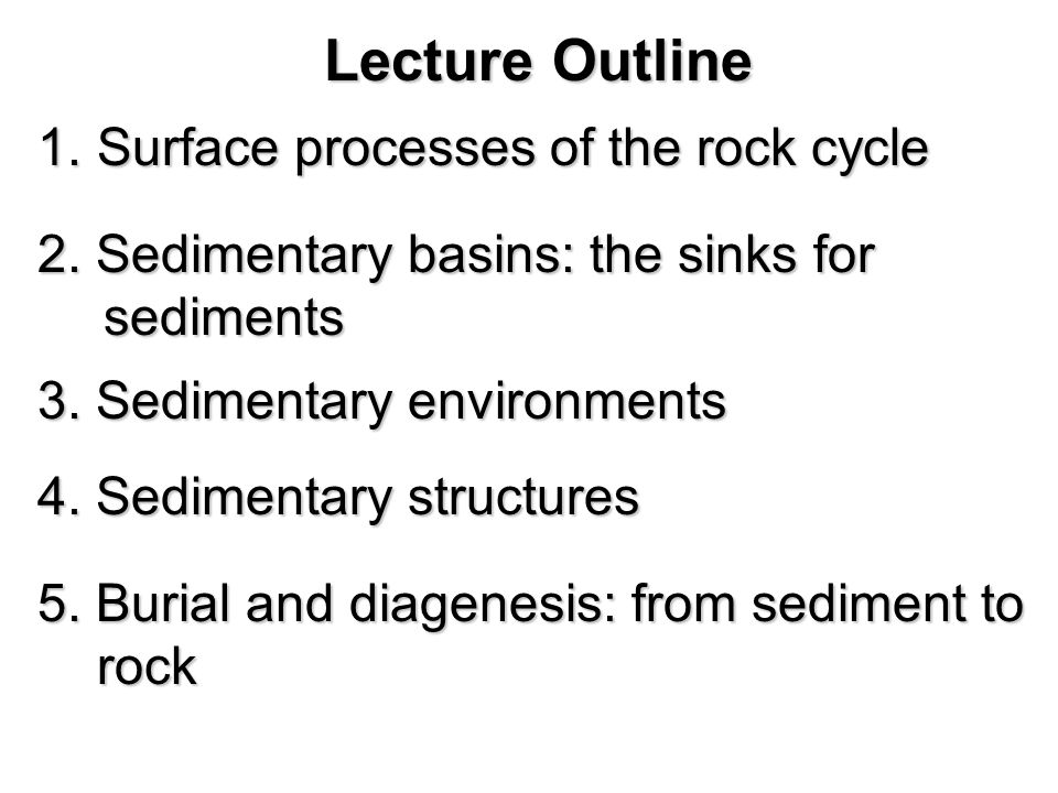 Lecture Outline Surface processes of the rock cycle