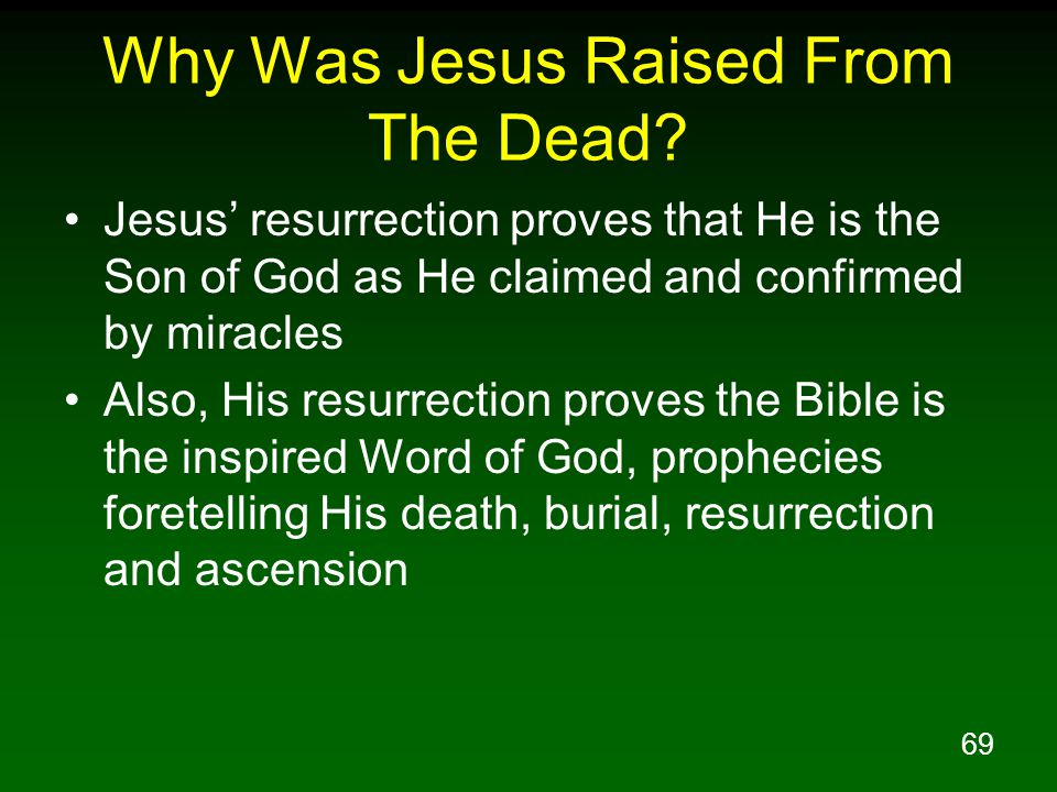 Why Was Jesus Raised From The Dead