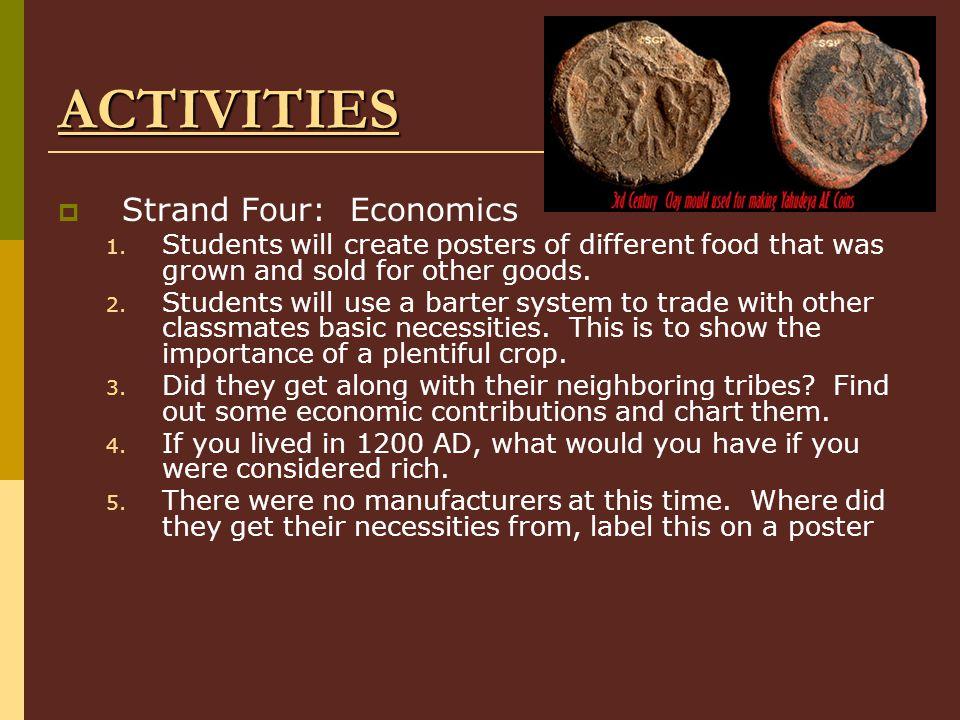 ACTIVITIES Strand Four: Economics