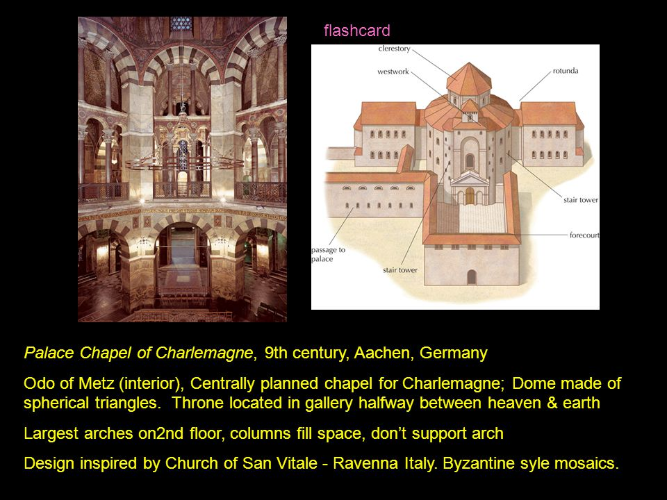 Palace Chapel of Charlemagne, 9th century, Aachen, Germany