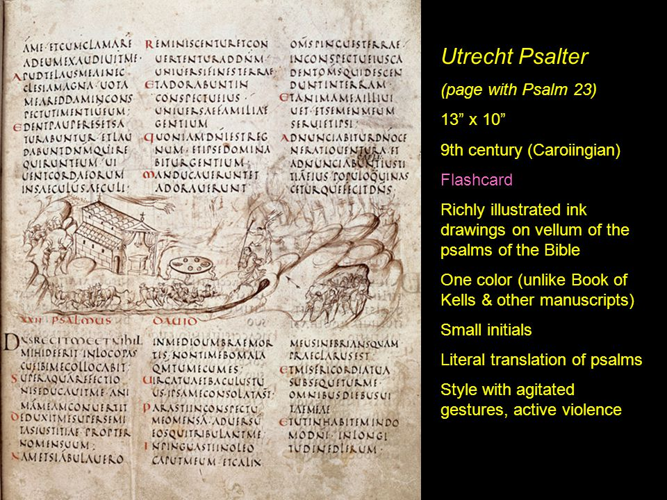 Utrecht Psalter (page with Psalm 23) 13 x 10
