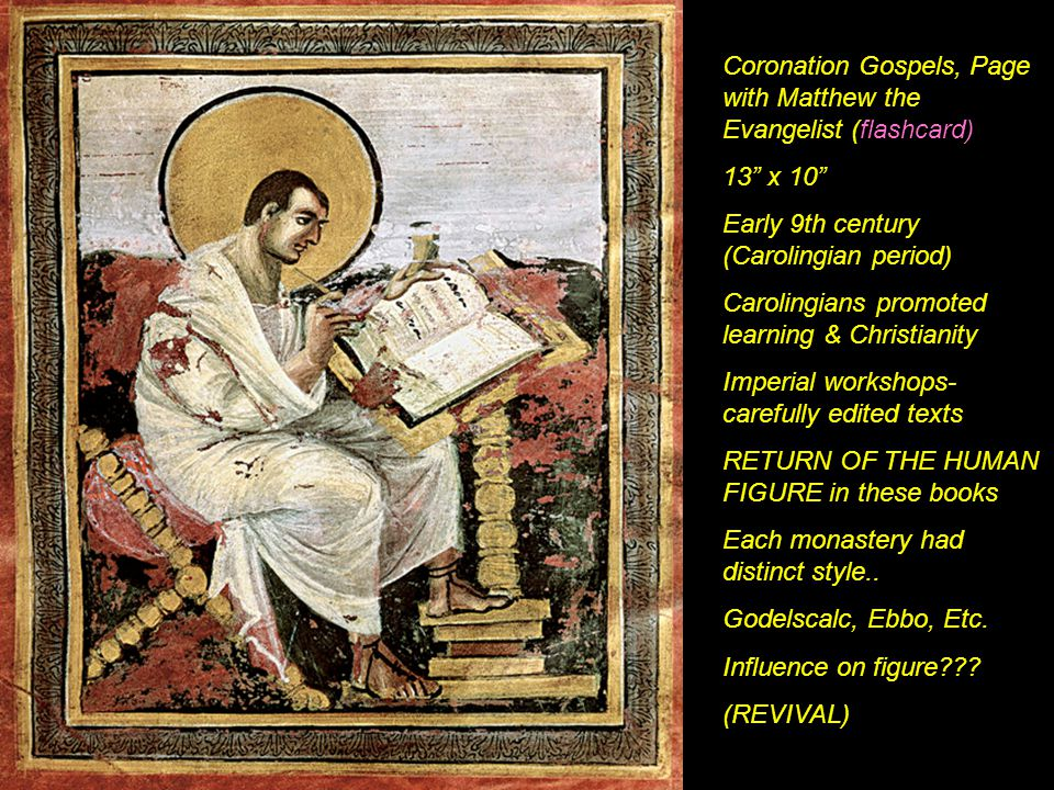 Coronation Gospels, Page with Matthew the Evangelist (flashcard)