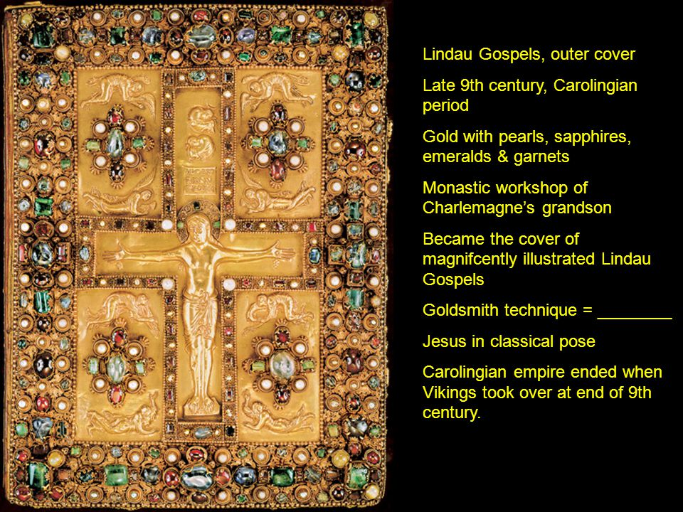 Lindau Gospels, outer cover Late 9th century, Carolingian period