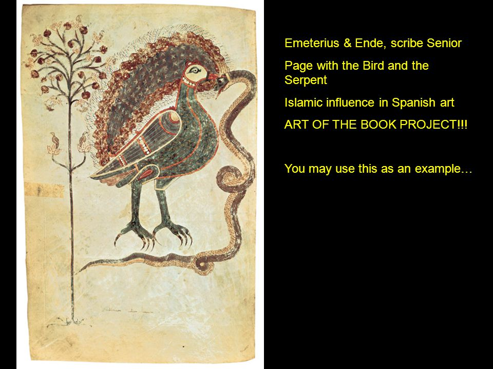 Emeterius & Ende, scribe Senior Page with the Bird and the Serpent