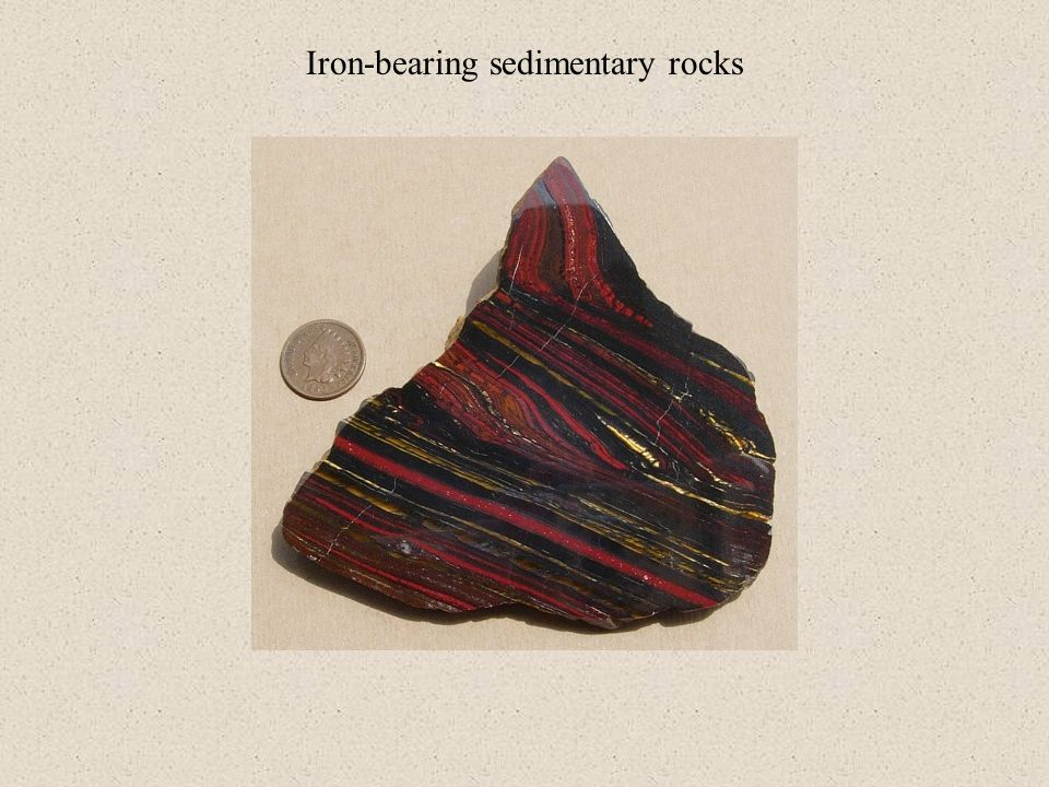 Iron-bearing sedimentary rocks