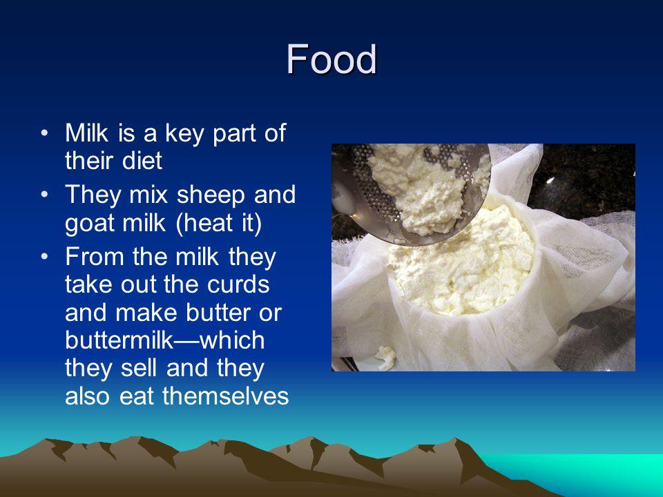 Food Milk is a key part of their diet
