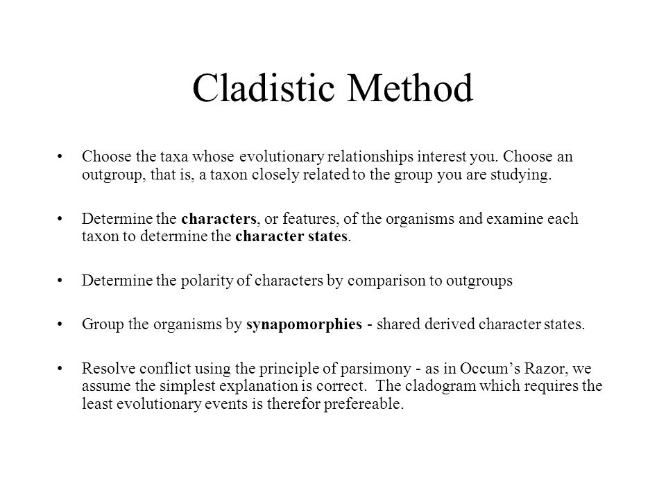 Cladistic Method