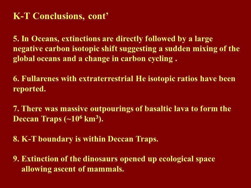 K-T Conclusions, cont'