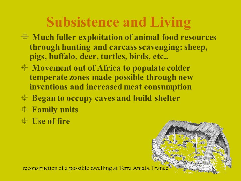 Subsistence and Living
