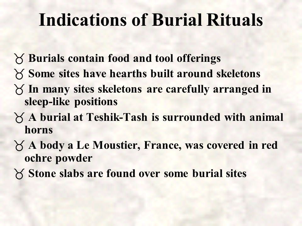 Indications of Burial Rituals