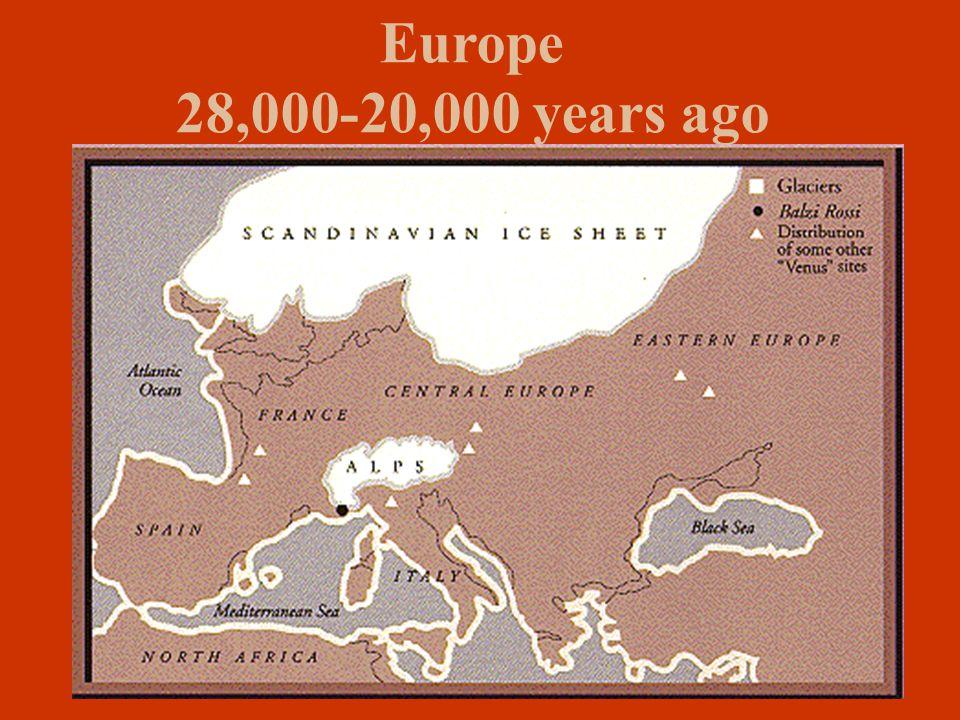 Europe 28,000-20,000 years ago
