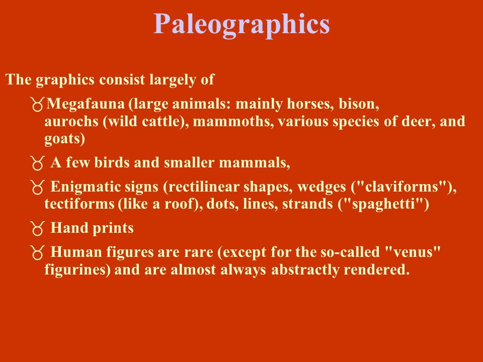 Paleographics The graphics consist largely of