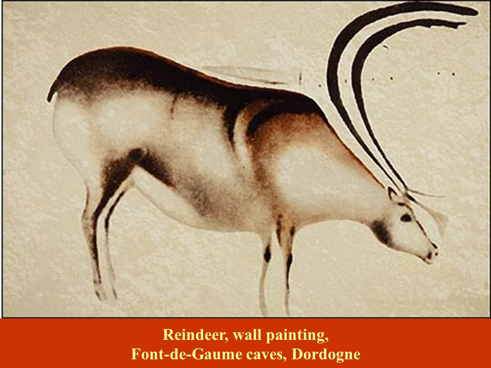 Reindeer, wall painting, Font-de-Gaume caves, Dordogne