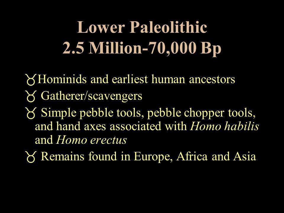 Lower Paleolithic 2.5 Million-70,000 Bp