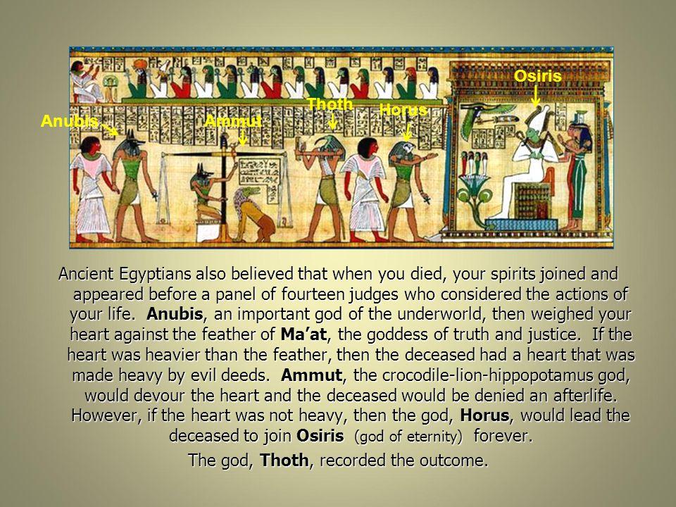 Osiris Thoth. Horus. Anubis. Ammut.