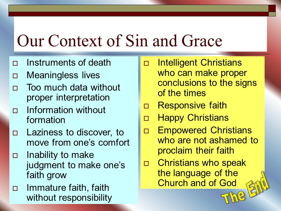 Our Context of Sin and Grace